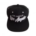 Casquette Los Angeles noire et blanche
