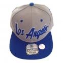 Casquette Los Angeles bleue et grise