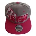 Casquette Las Vegas grise et rose