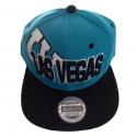 Casquette Las Vegas turquoise et noire