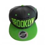 "Casquette New York ""Brooklyn"" grise et verte"