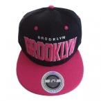 "Casquette New York ""Brooklyn"" noire et rose"
