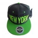 Casquette New York grise et verte