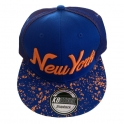 "Casquette New York ""Galaxy"" bleue et orange"