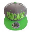 Casquette Chicago grise et verte