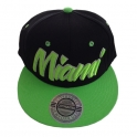Casquette Miami noire et verte