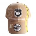 Casquette Route 66 beige