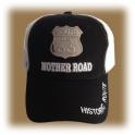 Casquette Route 66 noire et blanche