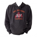 Sweat Shirt (Hoodie) à capuche San Francisco gris foncé