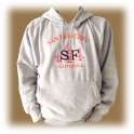 Sweat Shirt (Hoodie) à capuche San Francisco gris clair