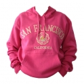 Sweat Shirt (Hoodie) à capuche San Francisco rose