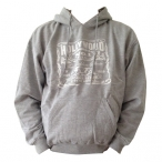 Sweat Shirt (Hoodie) à capuche Hollywood gris clair