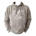 Sweat Shirt (Hoodie) à capuche Hollywood gris beige
