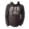 Sweat Shirt (Hoodie) à capuche Hollywood gris marronné