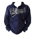 Sweat Shirt (Hoodie) à capuche Hollywood bleu foncé