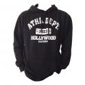 Sweat Shirt (Hoodie) à capuche Hollywood noir