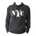 "Sweat Shirt (Hoodie) à capuche ""New York City"" gris anthracite"