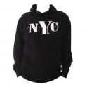 "Sweat Shirt (Hoodie) à capuche ""New York City"" noir"