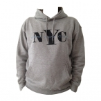 "Sweat Shirt (Hoodie) à capuche ""New York City"" gris clair"