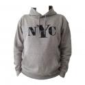 "Sweat Shirt (Hoodie) à capuche ""New York City"" gris clair"