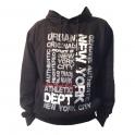 Sweat Shirt (Hoodie) à capuche New York noir
