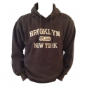 Sweat Shirt (Hoodie) à capuche Brooklyn gris anthracite