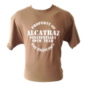 "T-Shirt Alcatraz ""Penitentiary Swim Team"" marron"