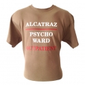 "T-Shirt Alcatraz ""Psycho Ward"" marron"