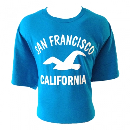 T-Shirt San Francisco turquoise