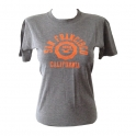 T-Shirt Femme San Francisco gris et orange