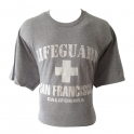 "T-Shirt San Francisco ""Lifeguard"" gris clair et blanc"