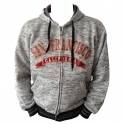 Sweat Shirt (Hoodie) à capuche San Francisco gris clair chiné