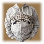 Sweat Shirt (Hoodie) à capuche San Francisco gris clair chiné