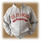 Sweat Shirt (Hoodie) à capuche San Francisco gris clair