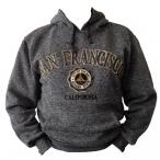 Sweat Shirt (Hoodie) à capuche San Francisco gris anthracite chiné