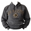 Sweat Shirt (Hoodie) à capuche San Francisco gris anthracite chiné