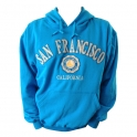 Sweat Shirt (Hoodie) à capuche San Francisco bleu clair