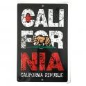 Plaque Métallique Californie