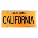 Plaque Métallique Californie Jaune