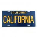 Plaque Métallique Californie Bleue