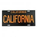 Plaque Métallique Californie Noire