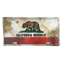 "Plaque Métallique Californie ""vieillie"""