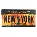 """Plaque Métallique New York """"vieillie"""""""