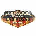 "Plaque Métallique Las Vegas ""Logo"""