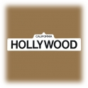 "Plaque ""Hollywood"" blanche"