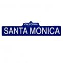 "Plaque ""Santa Monica"" bleue"