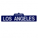 "Plaque ""Los Angeles"" bleue"