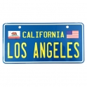 Plaque Métallique Los Angeles Bleue