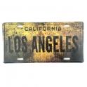 "Plaque Métallique Los Angeles ""vieillie"""