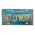 """Plaque Métallique Hollywood """"vieillie"""""""